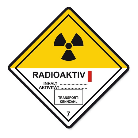 substances: Hazardous substances signs icon flammable skull radioactive atom