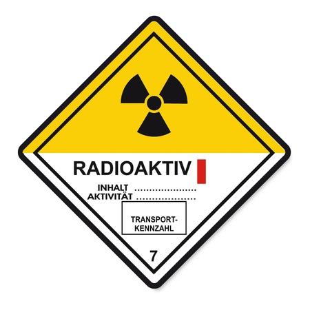 Signos de sustancias peligrosas inflamables icono de cráneo átomo radiactivo Foto de archivo - 14380156