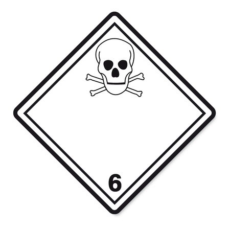 hazardous substances: Hazardous substances signs icon flammable skull radioactive hazard corrosive