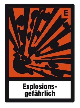 danger chimique: signe de danger la s�curit� des produits chimiques dangereux signe risque d'explosion chimie Illustration