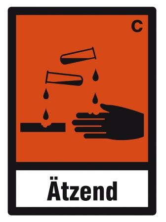 hazardous substances: safety sign danger sign hazardous chemical chemistry corrosive Illustration