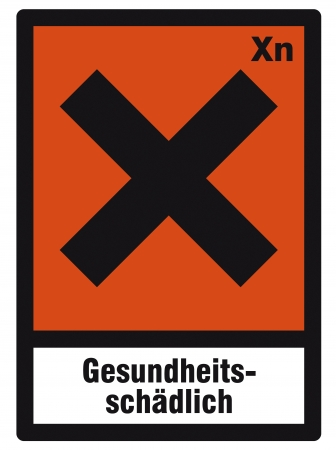 safety sign danger sign hazardous chemical chemistry health-damaging Vector