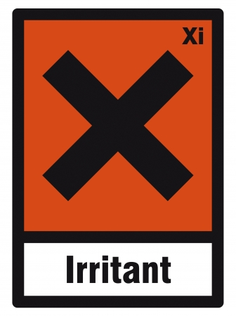 hazardous material: safety sign danger sign hazardous chemical chemistry irritant Illustration