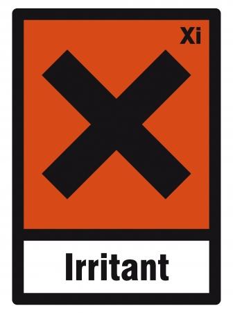 hazardous: segno sicurezza pericolo irritante segno pericolosi chimica chimica