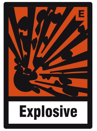 explosives: safety sign danger sign hazardous chemical chemistry explosive