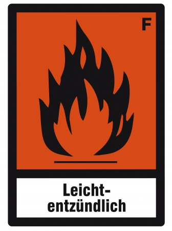 safety sign danger sign hazardous chemical chemistry highly flammable Vector