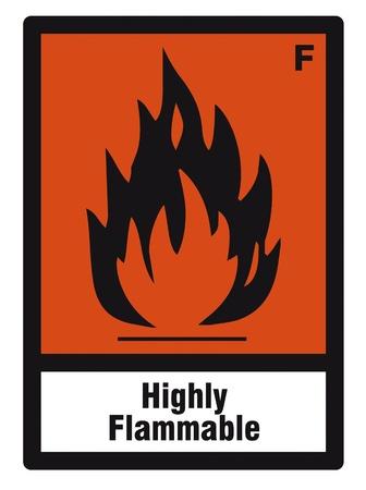 veiligheid teken gevaar teken gevaarlijke chemie chemisch licht ontvlambaar