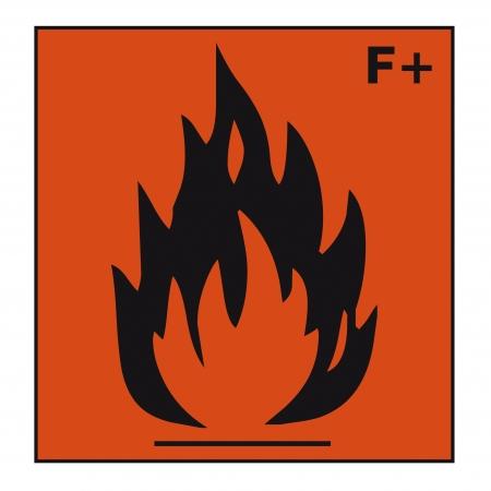 oxidising: seguridad se�al de peligro firmar la qu�mica qu�mico peligroso extremadamente inflamable Vectores