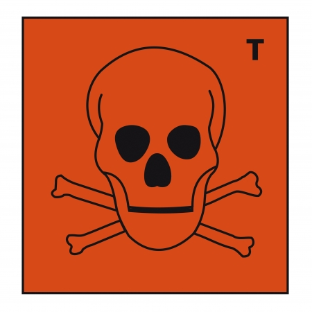 hazardous material: safety sign danger sign hazardous chemical chemistry skull dead