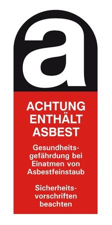 asa asbest asbestos asbestosis sticker label sing ico hazard symbol