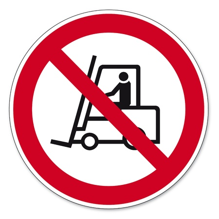 prohibitions: Prohibition signs BGV icon pictogram Prohibited for trucks