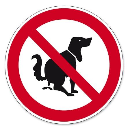 proibido: Proibi��o sinais BGV �cone pictograma Isso n�o � higi�nico c�o Ilustração