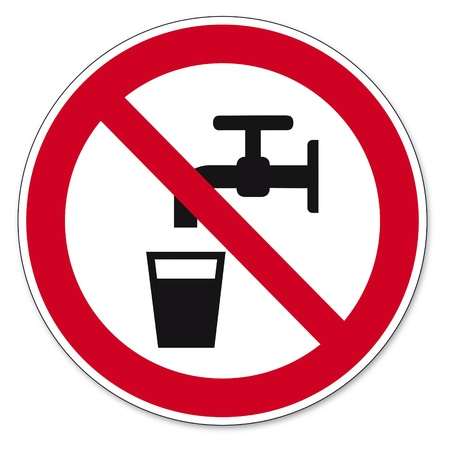 is prohibited: Prohibition signs BGV icon pictogram No drinking water