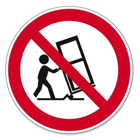 Prohibition signs BGV icon pictogram Cargo transport by trucks prohibited barrow load
