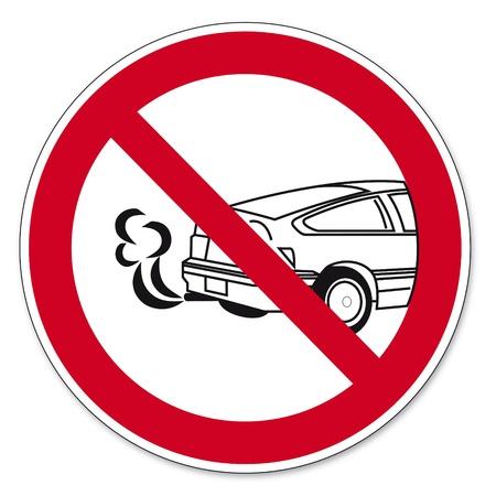 poisoning: Divieto segni BGV pittogramma icona Fermare il pericolo di avvelenamento motore