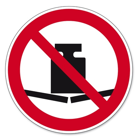 prohibit the production: Prohibition signs BGV icon pictogram weight no charge