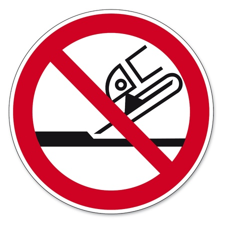 Prohibition signs BGV icon pictogram Not permitted for face grinding Stock Vector - 14512000