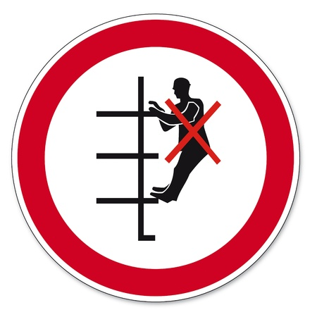 anlge: Prohibition signs BGV icon pictogram shelving board prohibited