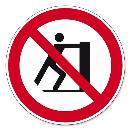 prohibitions: Prohibition signs BGV icon pictogram Slide prohibited