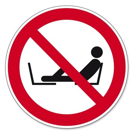 behaviours: Prohibici�n signos BGV pictograma icono de prohibido poner los pies del asiento Vectores