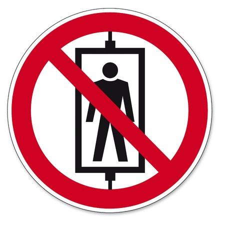forbade: Prohibition signs BGV icon pictogram Passenger-riding