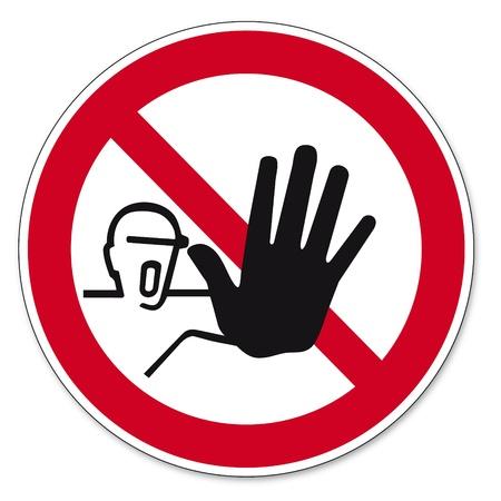prohibido: prohibici�n de los signos BGV icono de acceso pictograma para las personas no autorizadas