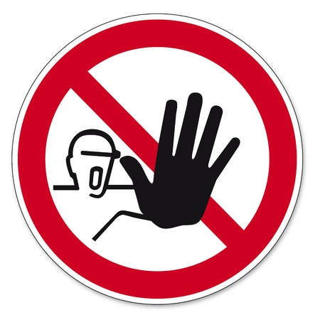 prohibitions: prohibition signs BGV icon pictogram Access for unauthorized persons