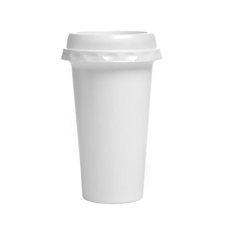 hotter: White plastic coffee cup