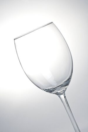 Wine Glas on grey Black Backgorund  photo
