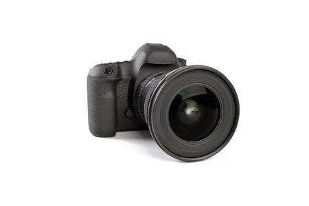 Digitale dslr camera met lens