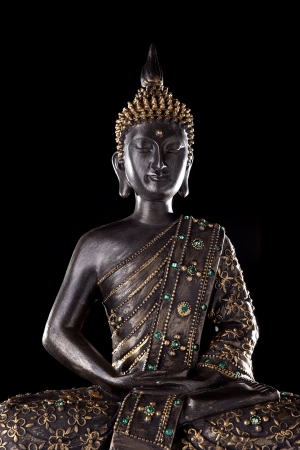 Buddha statue with glow photo