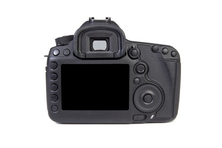 Digital dslr Camera body back view