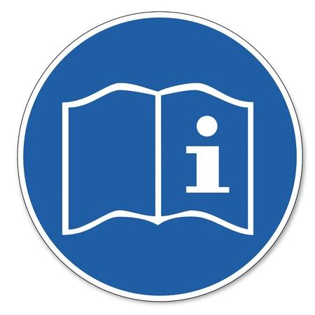 Gebood teken veiligheid teken pictogram arbeidsveiligheid teken Gebruiksaanwijzing handleiding faq