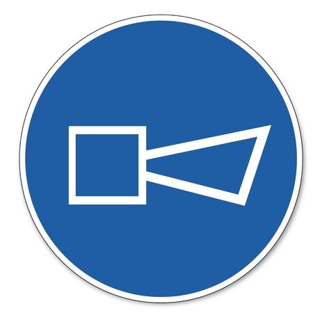 ocupacional: Al mando signo se�al de seguridad seguridad en el trabajo pictograma signo claxon