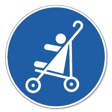 ocupacional: Mandado se�ales de seguridad de signo pictograma ocupacionales Cochecitos se�ales de seguridad permitido beb� ni�os