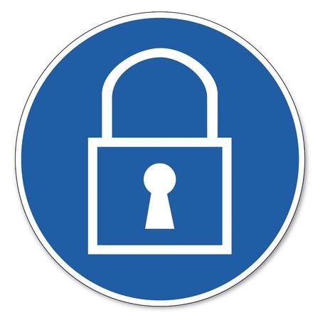 ocupacional: Al mando de seguridad signo se�al de seguridad en el trabajo pictograma signo bloque de claves ladr�n lleg� a la conclusi�n