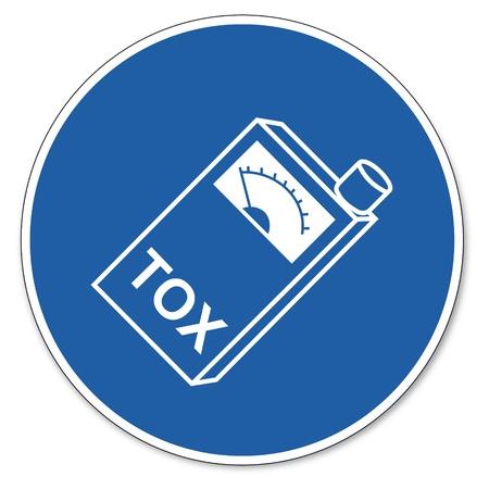 ocupacional: Al mando de seguridad signo se�al pictograma seguridad en el trabajo tox�metro signo llevar a