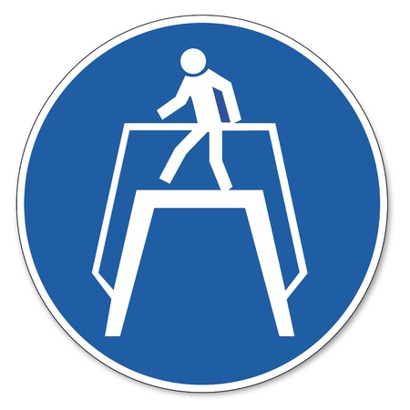 commanded: Commanded sign safety sign pictogram occupational safety sign transition use