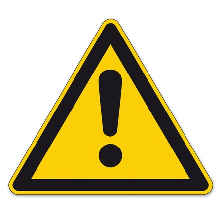 Safety signs warning warndreieck BGV A8 triangle sign vector pictogram icon Dangerous point exclamation mark
