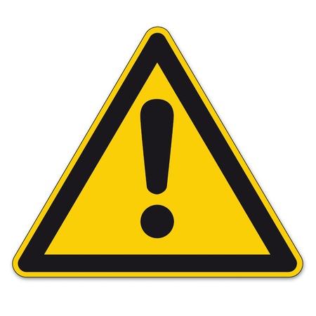 caution sign: Segnaletica di sicurezza warning Warndreieck BGV A8 triangolino vettore pittogramma icona pericoloso segno del punto esclamativo Vettoriali