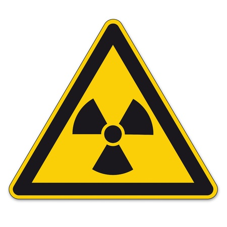 Safety signs warning triangle sign BGV vector pictogram icon radioactive nuclear radiation Vector