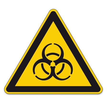 Safety signs warning sign vector pictogram icon biohazard viruses bacteria disease Stock Vector - 15313255