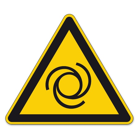 a8: Safety signs warning sign BGV A8 vector pictogram icon triangle automatically start Illustration
