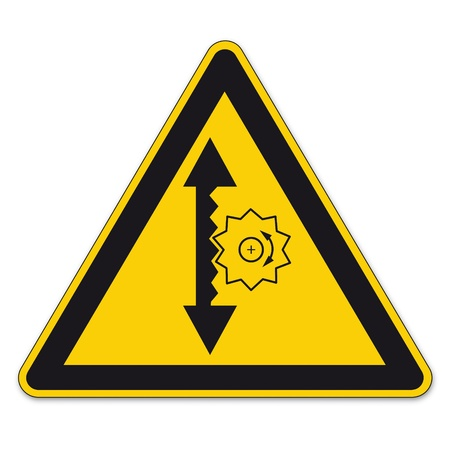 Safety signs warning triangle sign vector pictogram icon BGV A8 height adjustment Stock Vector - 15313251