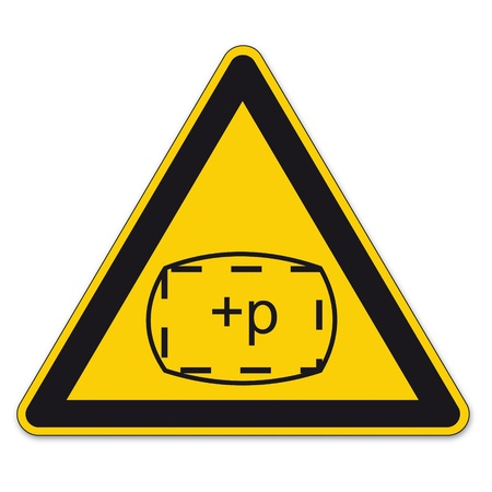 Safety signs warning triangle sign BGV A8 vector pictogram icon space zone pressure Vector