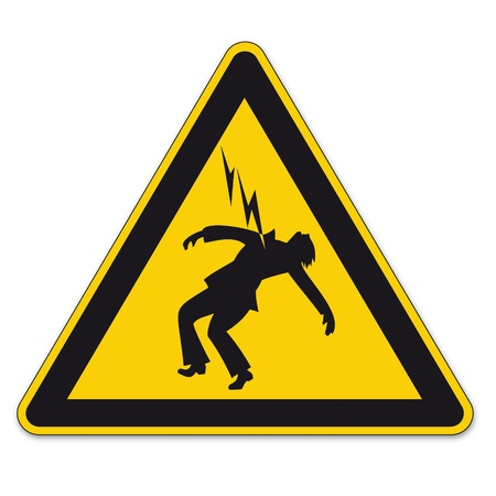 Safety signs warning triangle sign vector pictogram icon Danger high voltage lightning Vector