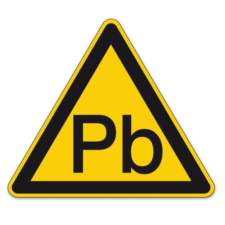Safety signs warning triangle warning triangle sign vector pictogram BGV A8 Icon Lead Vector
