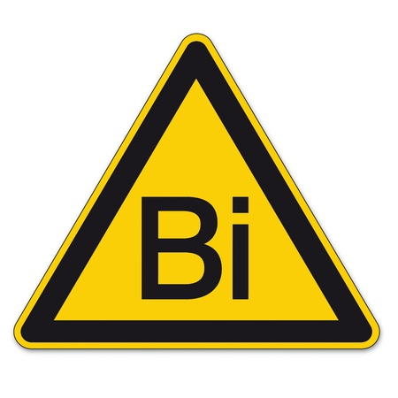 bismuth: Safety signs warning triangle warning triangle sign vector pictogram BGV A8 Icon bismuth