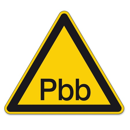 a8: Safety signs warning triangle sign vector pictogram BGV A8 Icon Polybrominated Biphenyls Illustration