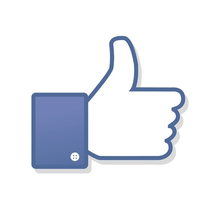 like icon: Face symbol hand i like fan fanpage social voting dislike network book icon community Illustration